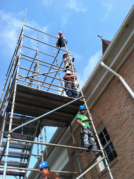 Church steeple scaffolding bossier city la mondello for Stair tower