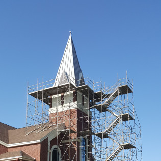 Church steeple scaffolding bossier city la mondello scaffolding 318 752 5600 altavistaventures Images